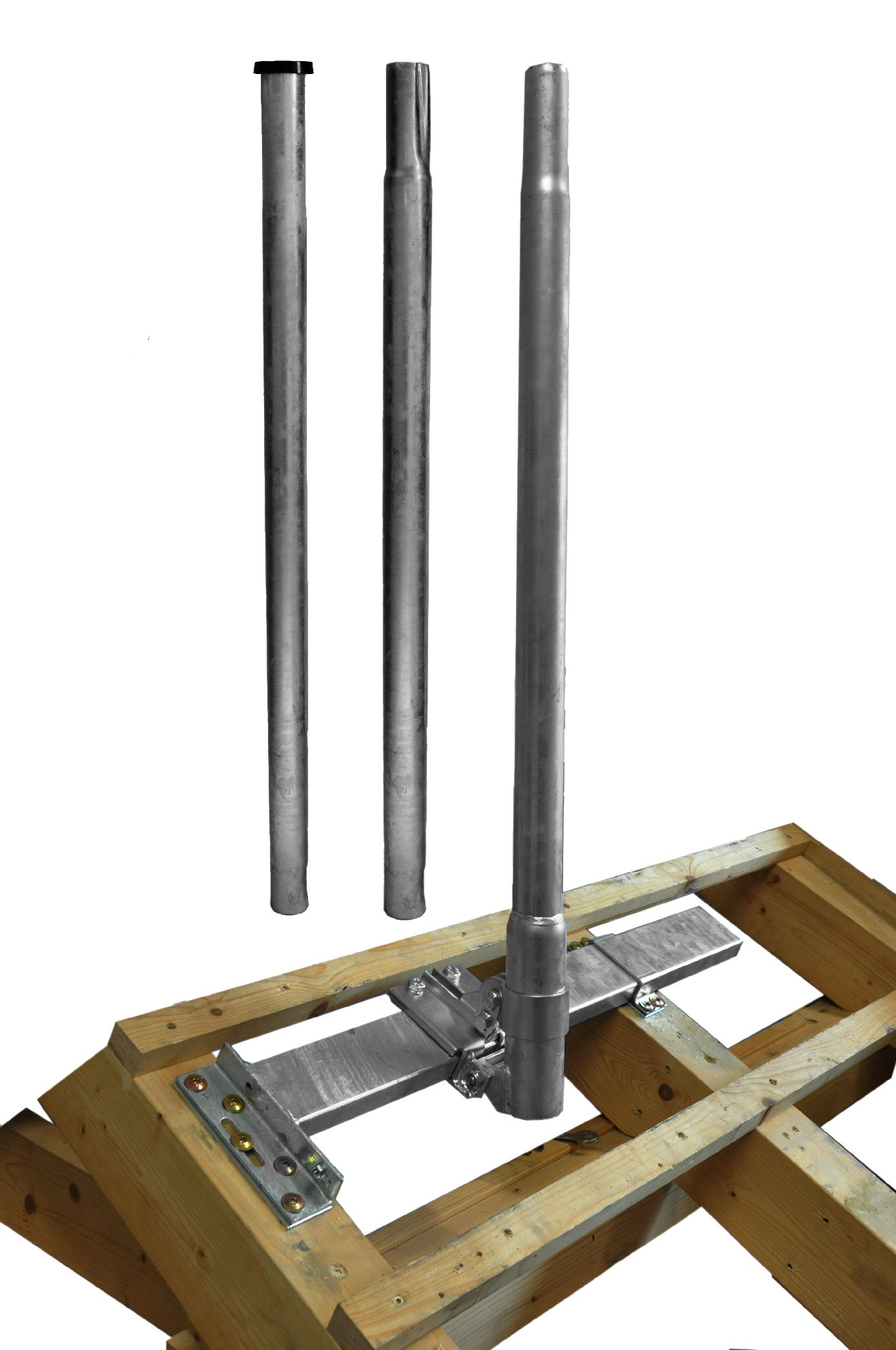 1 Stk SAT Dachsparrenhalter Goliat,inkl.Mast 3.000,Horizont.,Stahl HSATMS03S-