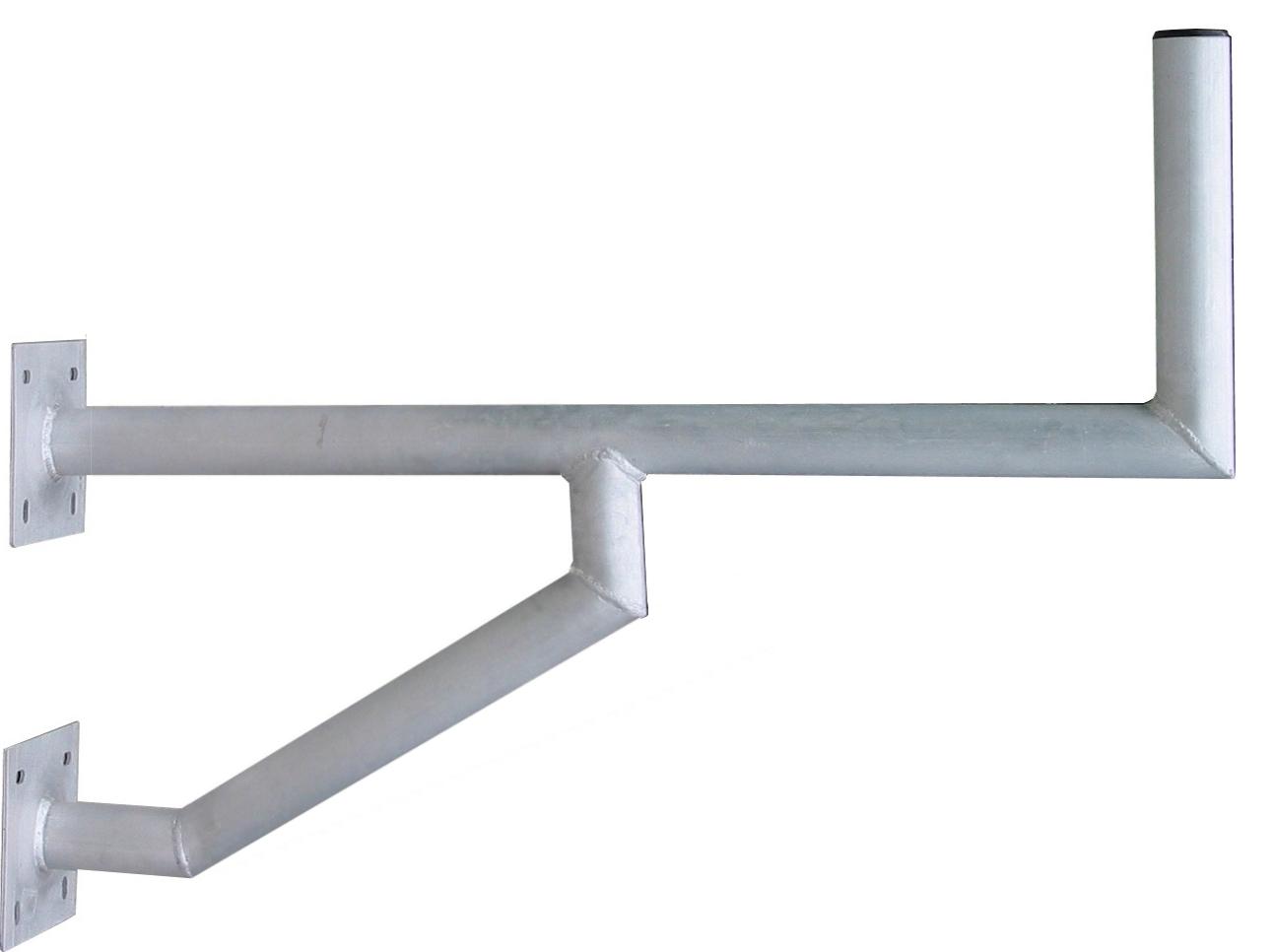 1 Stk SAT Wandhalter,Wandabst.=570mm,H=250mm,2x150x150,DM=50mm,Alu HSATMW57A-