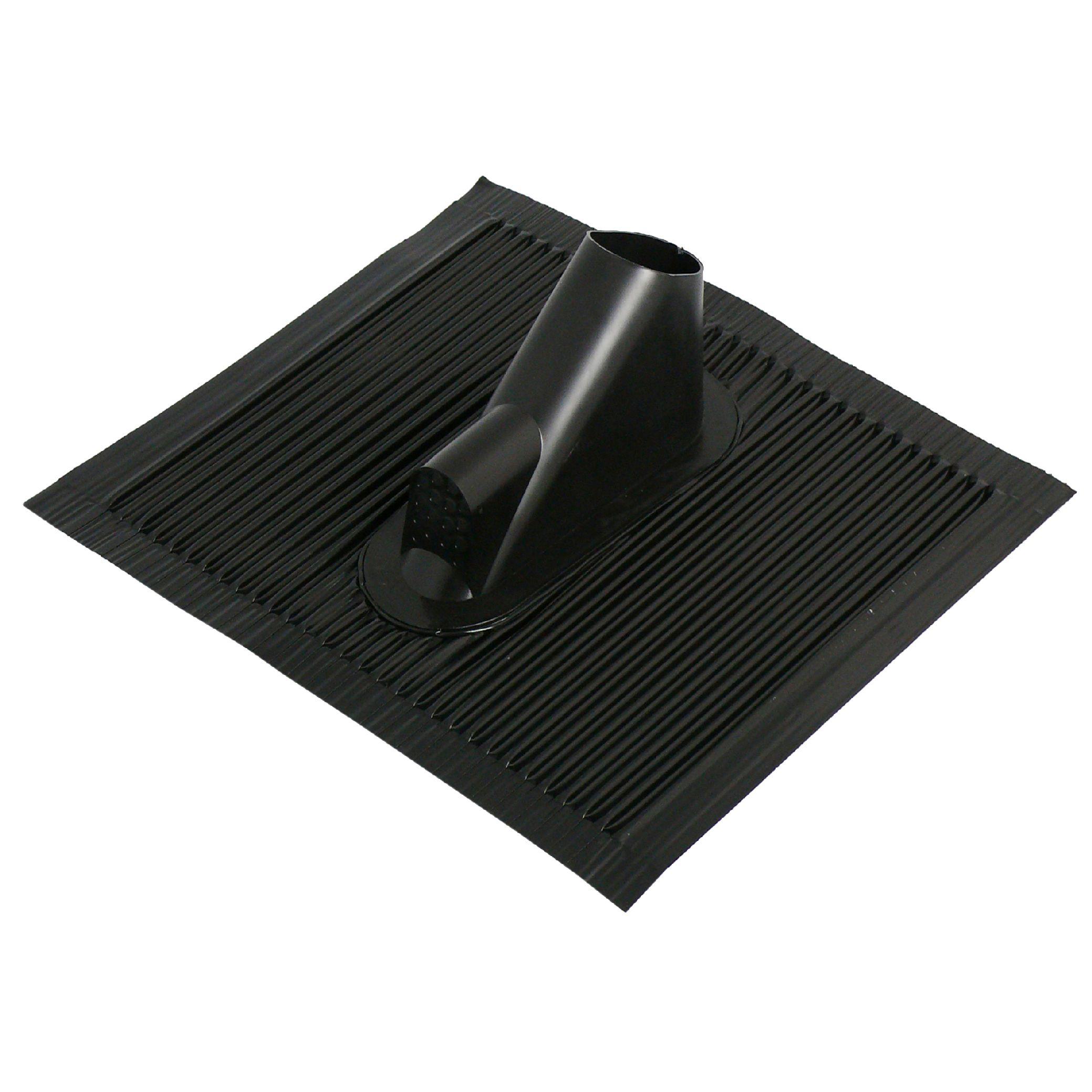 1 Stk SAT Dachziegel mit Kabeleinf., 45x50cm, Mast:38-60mm, Alu,sw HSATMZ01AS