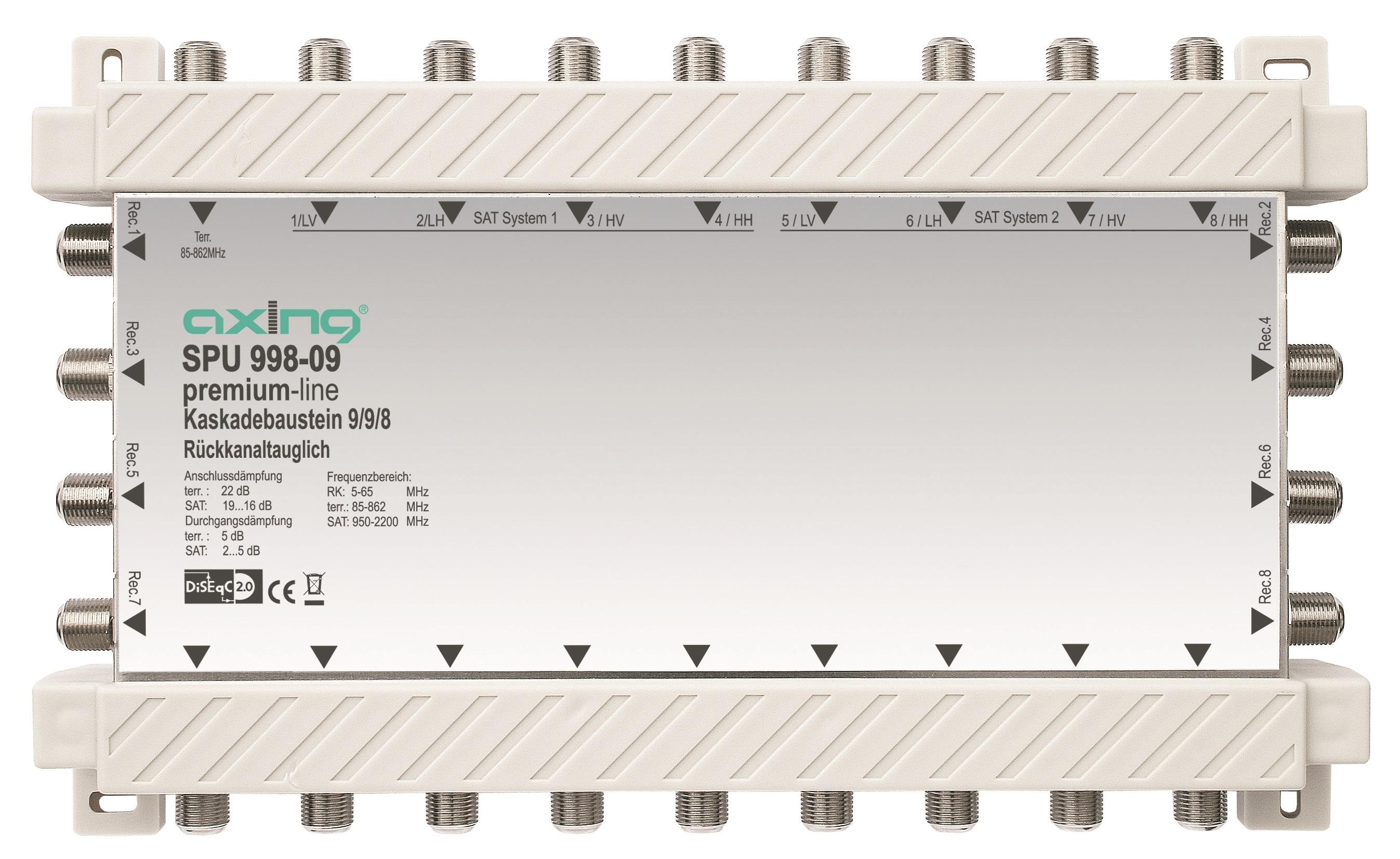 1 Stk SAT Kaskadierbaustein 9 in 8 passiv f. HSATS9xxKA,SPU 998-09 HSATSK908A