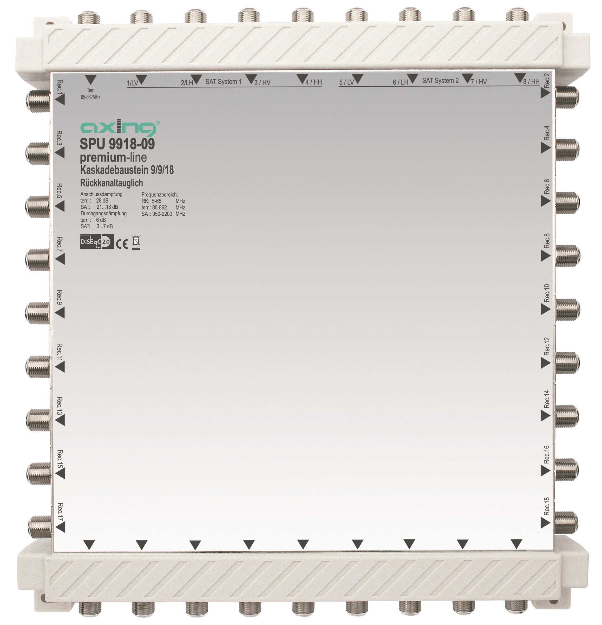 1 Stk SAT Kaskadierbaustein 9 in18 passiv f.HSATS9xxKA,SPU 9918-09 HSATSK918A