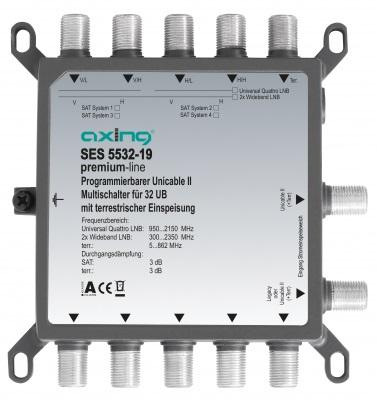 1 Stk SAT Multischalter Einkabel 5 - 32, kaskadierbar, SES 5532-19 HSATSU532A