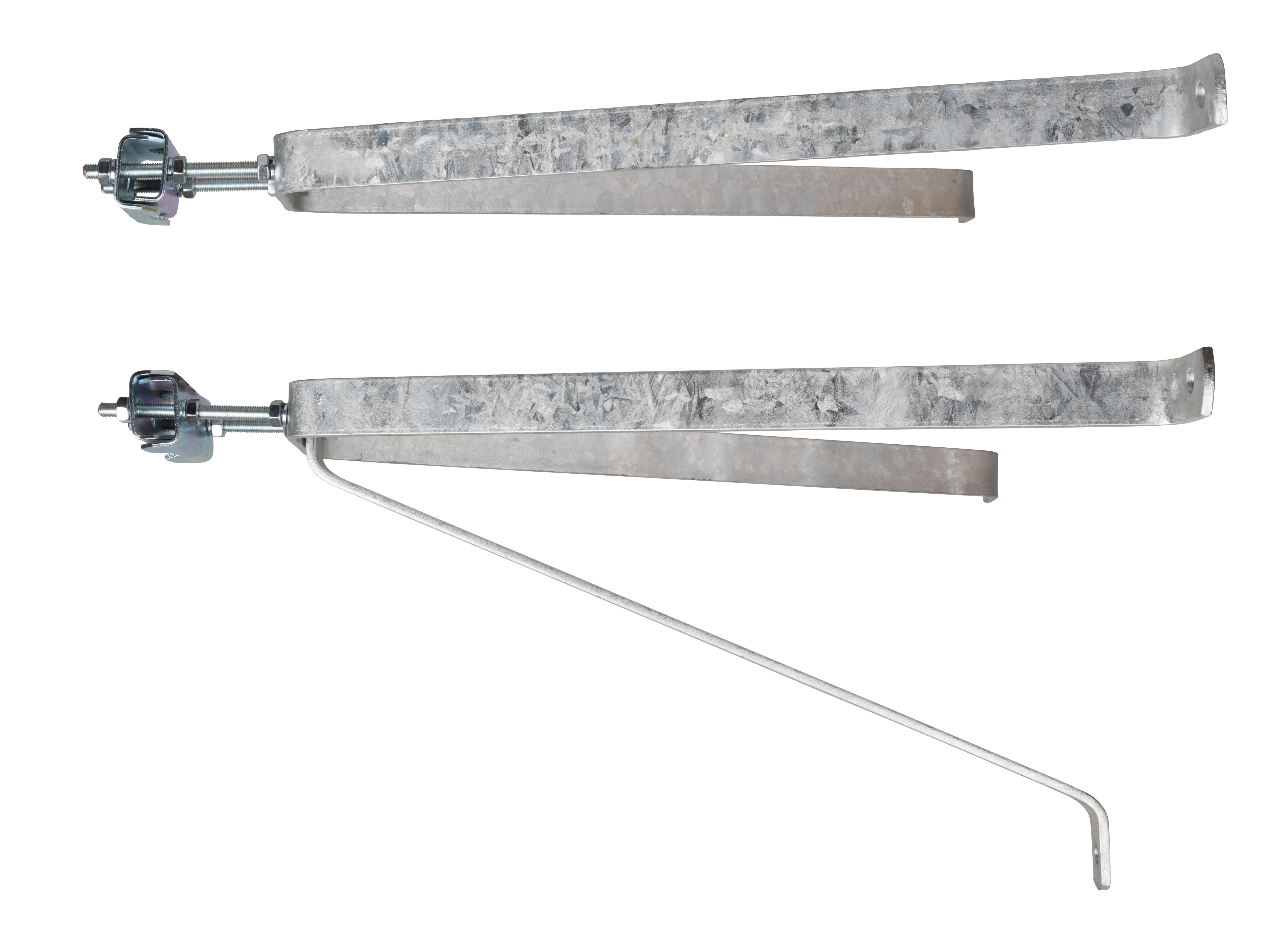1 Stk SAT Mastbügel Garnitur 50cm, Mastrohre D=38mm-60mm, Stahl HSATWT50S-