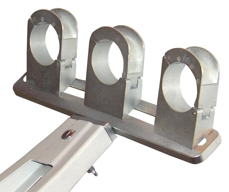 1 Stk SAT LNB Halter Aluminium für 3 LNBs, Winkel einstellbar HSATZLH3A-