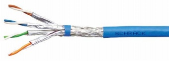 100 m S/FTP Kabel Cat.7, 4x2xAWG23/1, 1000Mhz, LS0H-3, blau HSEKP4233K
