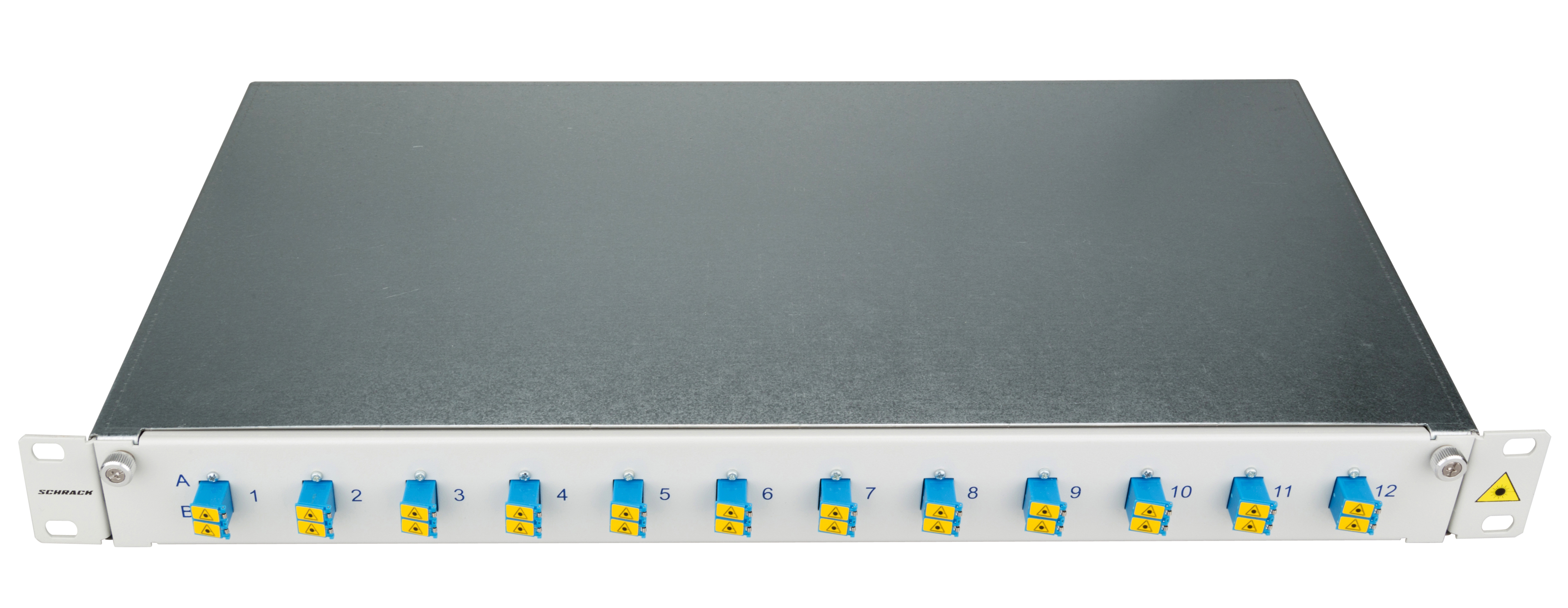 1 Stk LWL Patchpanel 19, 1 HE, ausziehbar, für 24 Fasern, LC, SM HSELS24SLG
