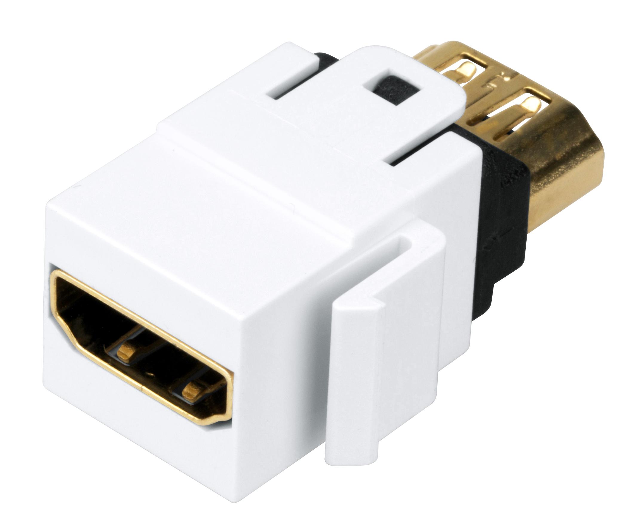 1 Stk TOOLLESS LINE HDMI Kupplung Weiß HSEMRHDMWS