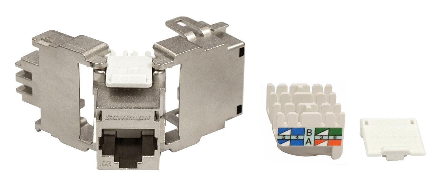 1 Stk TOOLLESS LINE Buchse RJ45 geschirmt Klasse Ea 10GB 4PPoE HSEMRJ6GWT