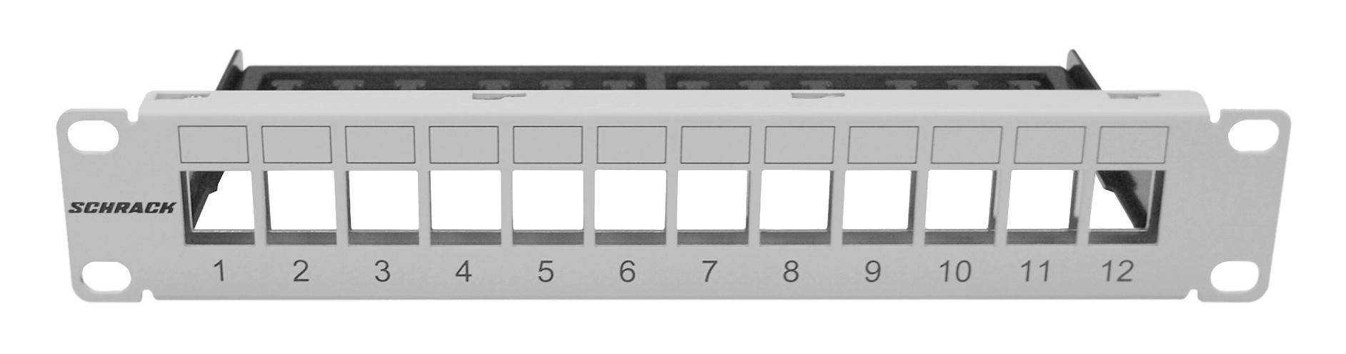 1 Stk Patchpanel 10 leer für 12 Module (SFA)(SFB), 1HE, RAL7035 HSER0120GS