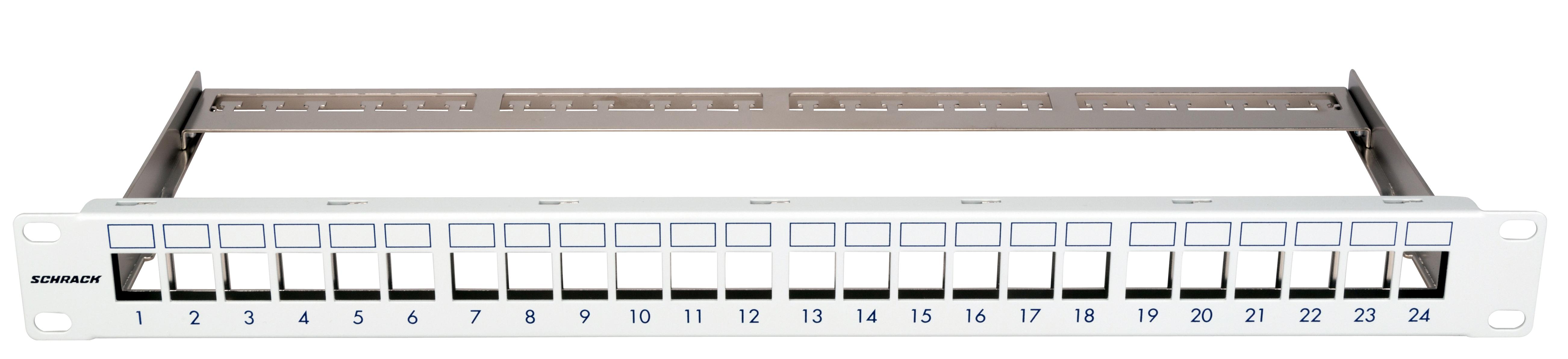 1 Stk Patchpanel 19 leer für 24 Module (SFA)(SFB), 1HE, RAL7035 HSER0240GS