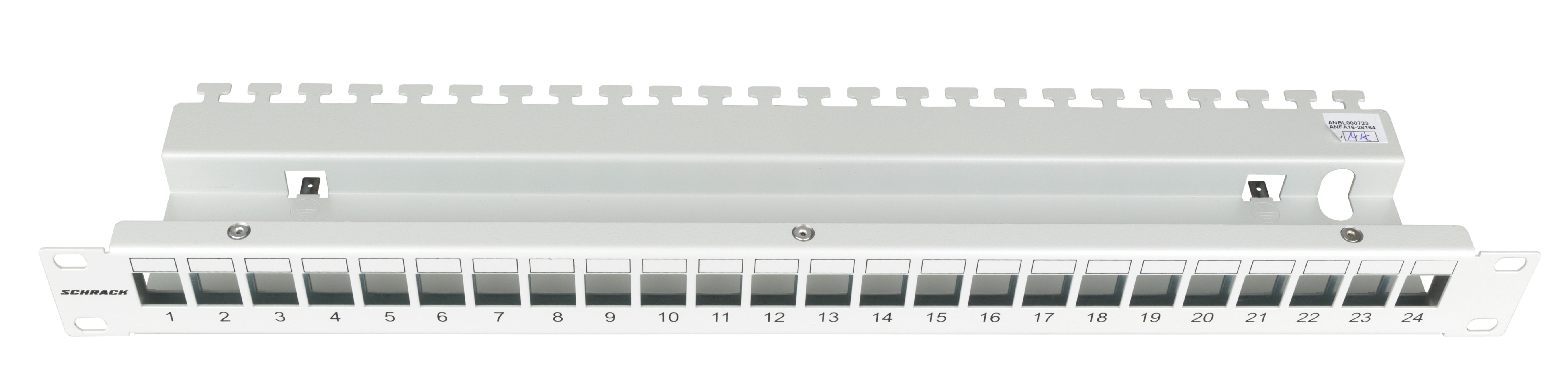 1 Stk Patchpanel 19 leer für 24 Module (SFA)(SFB), 1HE, RAL7035 HSER0240GV