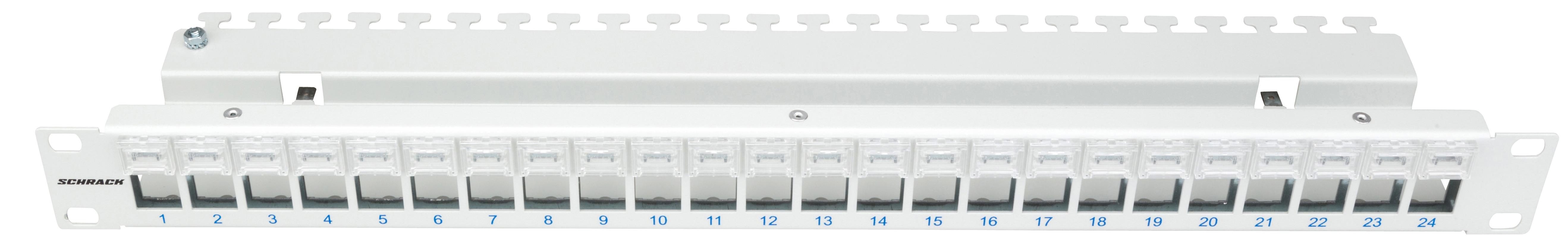1 Stk Patchpanel 19 für 24 Module (SFA)(SFB), Beschriftungsfelder HSER0240GZ