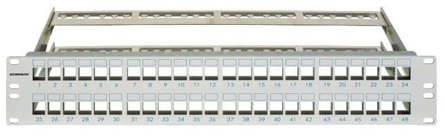 1 Stk Patchpanel 19 leer für 48 Module (SFA)(SFB), 2HE, RAL7035 HSER0480GS