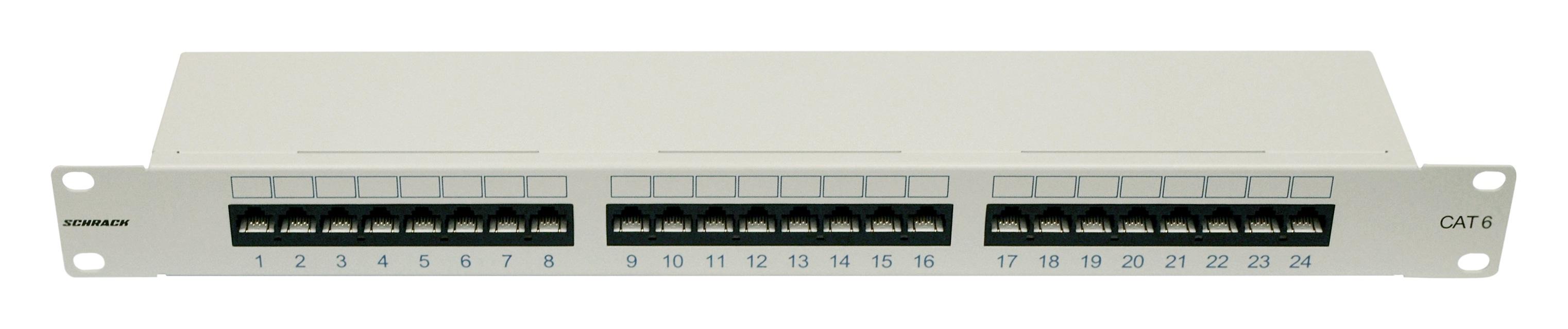 1 Stk Patchpanel 19 24xRJ45 ungeschirmt Cat.6, 1HE, RAL7035 HSERU246GV