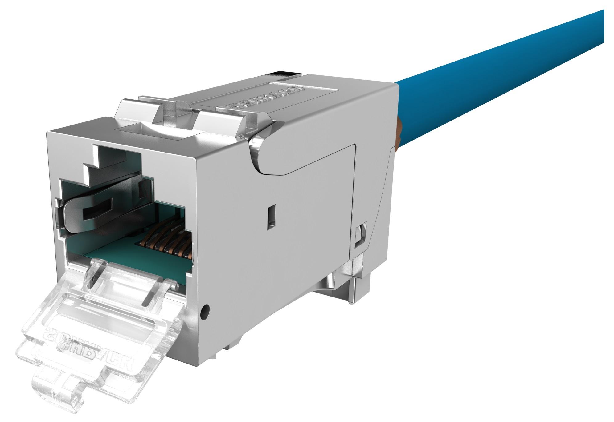 1 VE PERFORMANCE LINE Buchse RJ45 geschirmt Cat.6a 10GB 4PPoE HSPMRJ6G2A