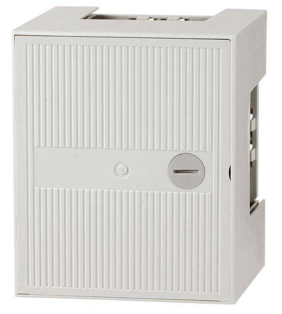 1 Stk Telefon Kunstoffverteiler Box I, 3 Leisten 30DA, Schloss HSTMBOX1L-