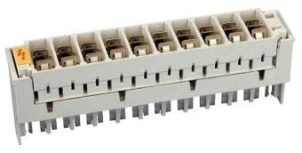 1 Stk LSA-Überspannungsmagazin Bauform H unbestückt HSTUSPH0--