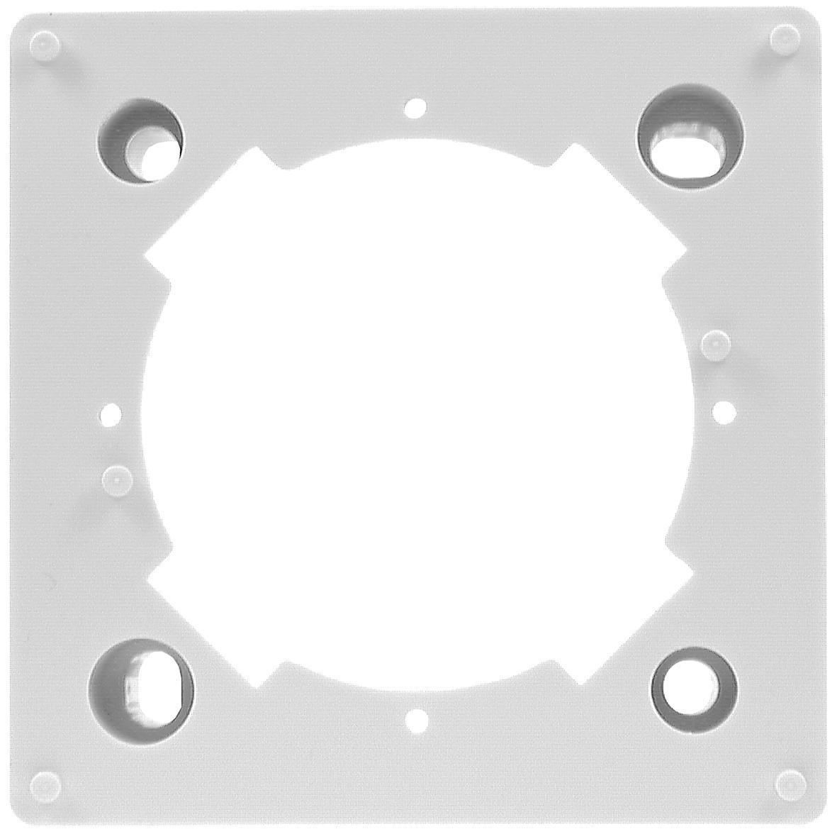 1 Stk SAT Aufputzrahmen für HSZUDxR88D, 80x80mm, RAL9010, TZU 1-00 HSZUDA88A-