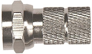 1 Stk SAT Koax F-Stecker, schraubbar, für Kabel 6,6-6,8mm,CFS 0-00 HSZUSFS48-