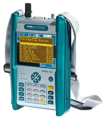 1 Stk SAT Messgerät mit 5,7 Farb-TFT, Akku,Tasche,VAROS 109 HSZUV109--