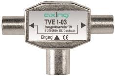 1 Stk SAT Zweigeräteverteiler IEC-Buchse-2xIEC-Stecker,TV,TVE 1-03 HSZUVG2T--