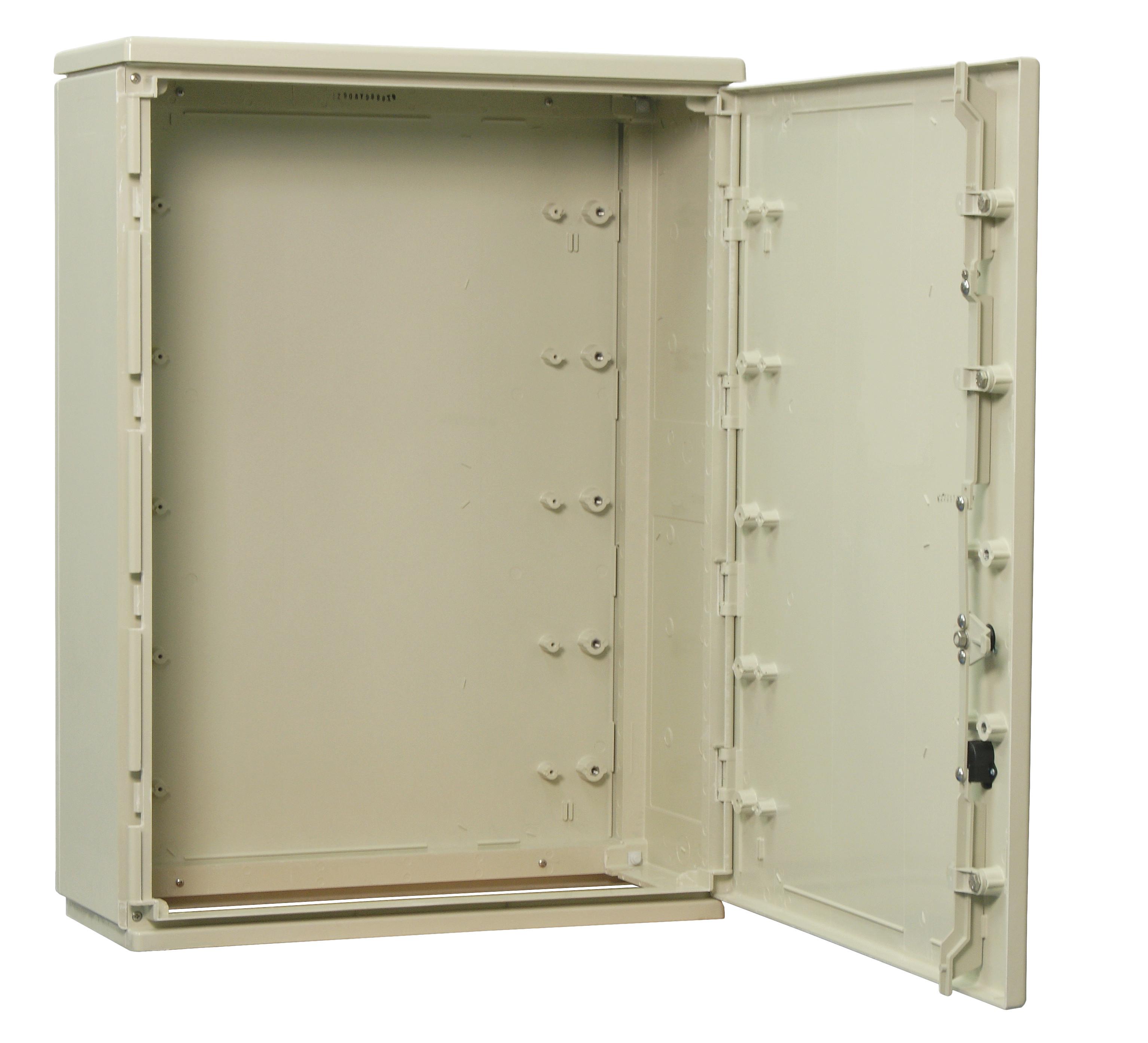 1 Stk Kabelverteilerschrank 2-türig glatt, Gr.2H, RAL7032, IP44 IG009205--