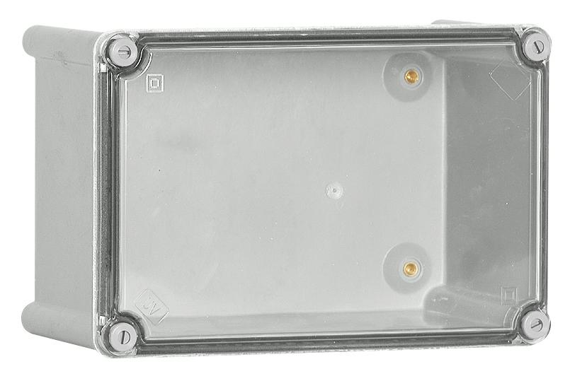 1 Stk Polyamid Gehäuse mit transparenten PC-Deckel, 180x135x129mm IG181313T-