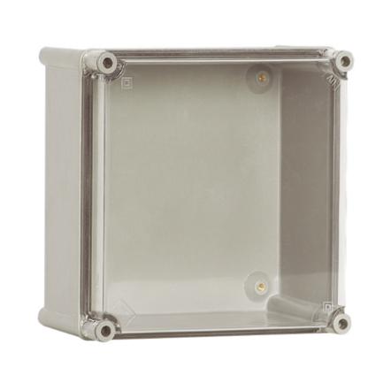 1 Stk Polyamid Gehäuse mit transparenten PC-Deckel, 180x180x129mm IG181813T-
