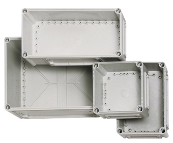 1 Stk Deckel 190x190x30mm, grau mit Kreuzkopfschraube IG700001--