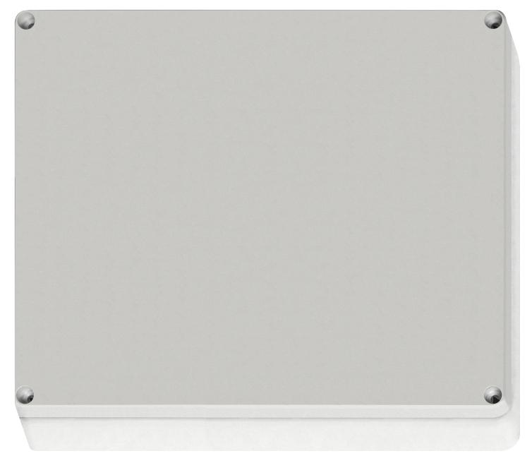 1 Stk ABS Gehäuse mit Deckel grau, 344x289x117mm, RAL7035 IG707008--