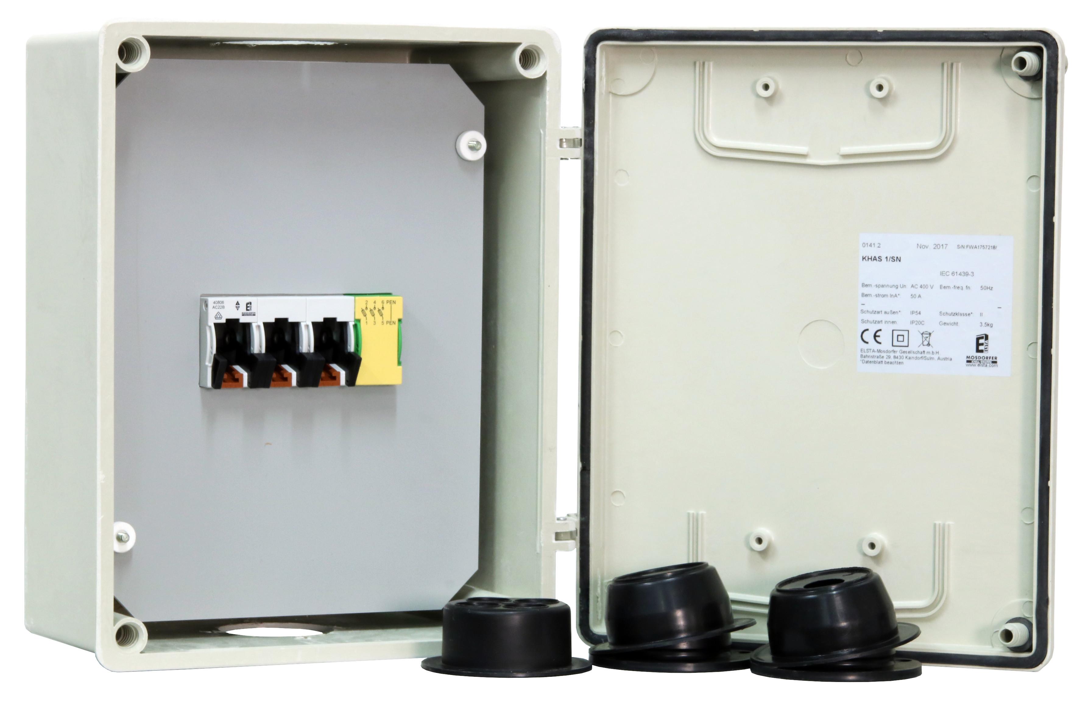 1 Stk Hausanschlusskasten m. TYTAN OOE-KHAS 1/SN-o. Sich.Stecker IG714210--