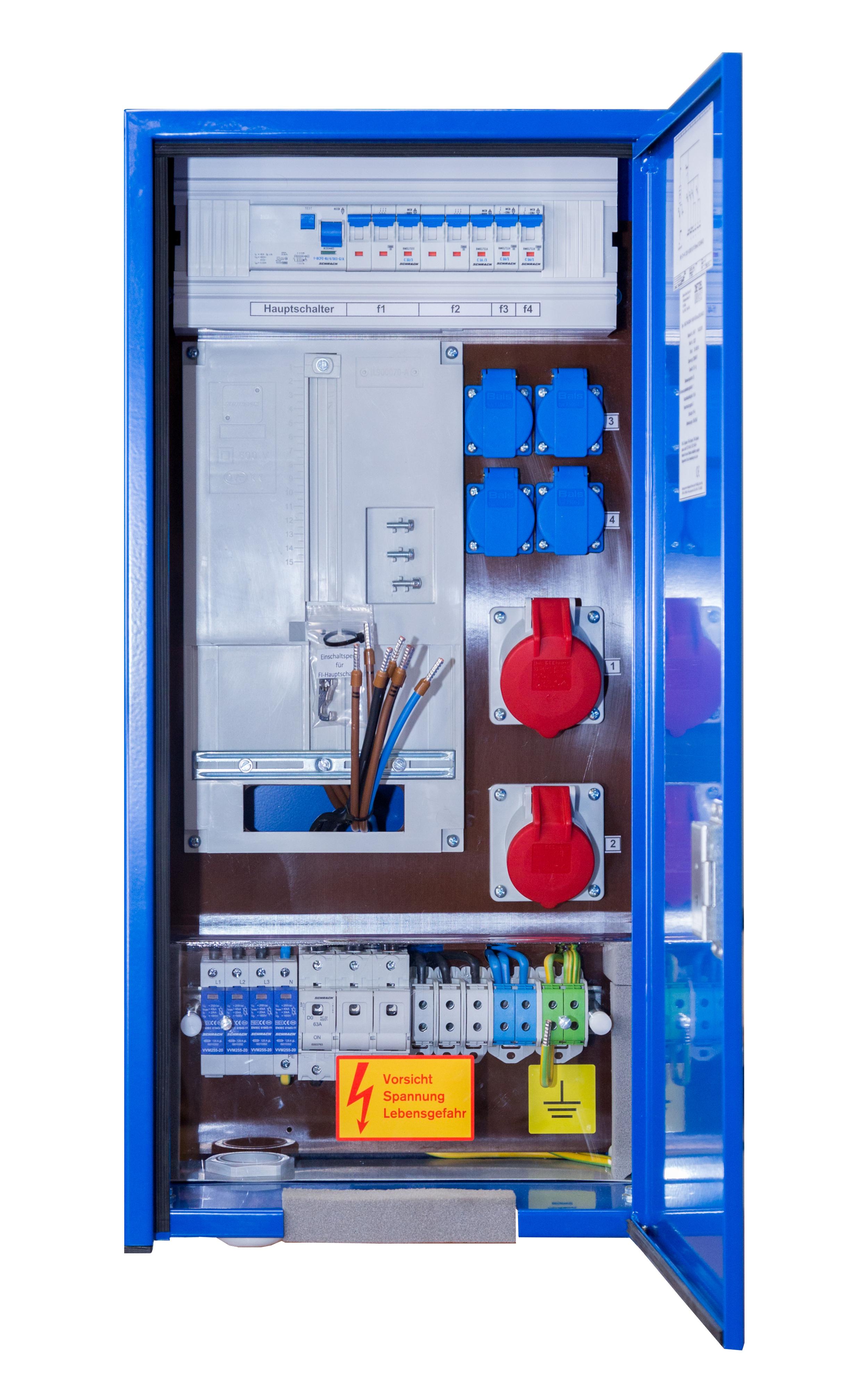 1 Stk Baustromverteiler 35A für genullte Netze, W/NÖ/BGL/OÖ/S/VLBG IG729999--