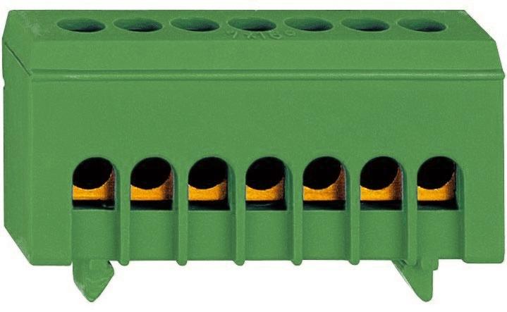 1 Stk Schutzleiterklemme, 7 Abgänge in isolierter Ausführung IK021037I-