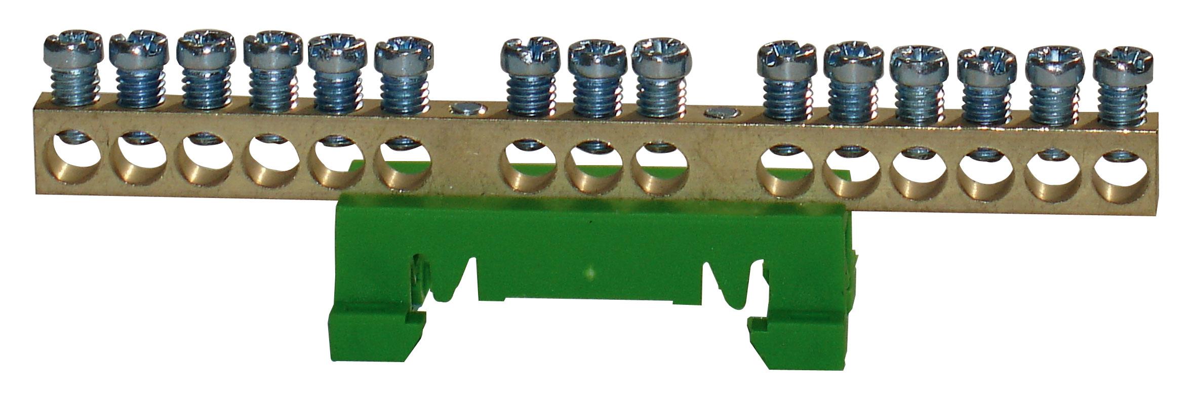 1 Stk Schutzleiterleiterklemme, 15 Abgänge IK021039--