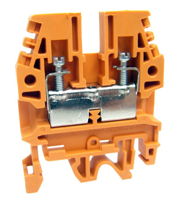 1 Stk Reihenklemme CBD.4 orange, 4mm²  IK108007--