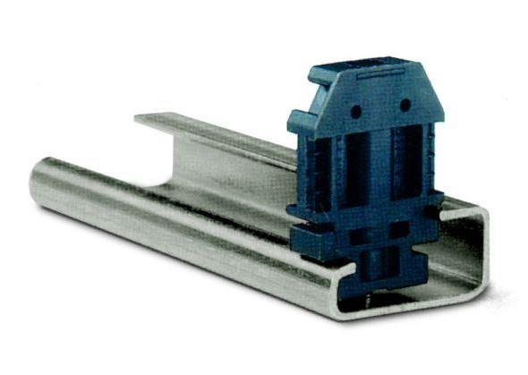 1 Stk Endhalter für DIN-Schiene G32, schwarz, schraubbar IK113000--