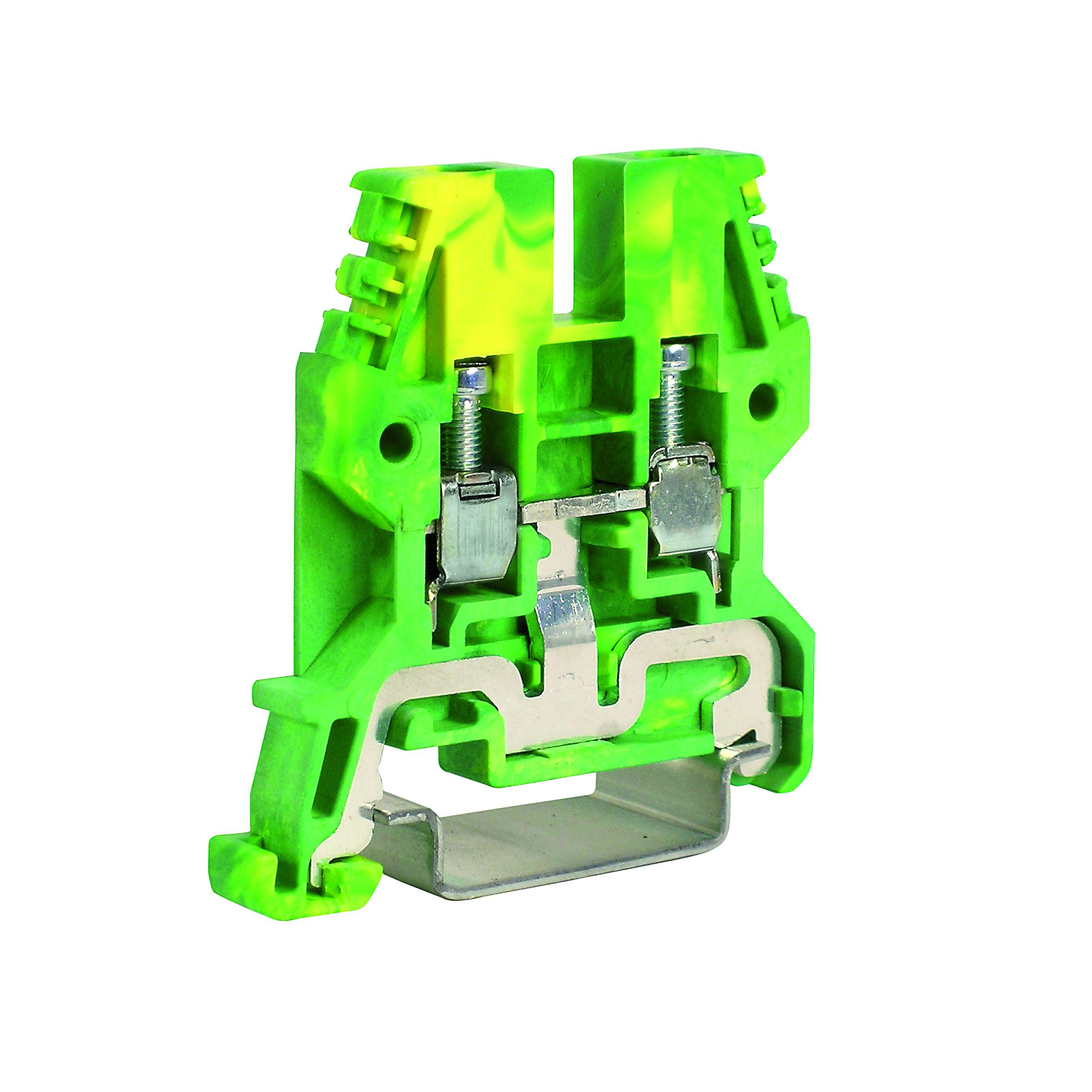 1 Stk Erdungsklemme TEO.4 grün-gelb, 4mm² IK122004-A