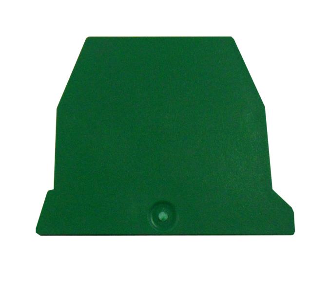 1 Stk Endplatte für Erdungsklemme TEO 2,5mm², grün IK122202--