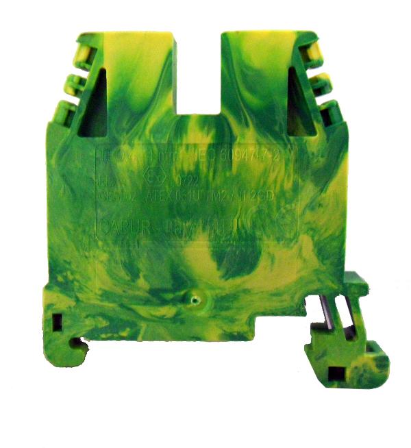1 Stk Endplatte für Erdungsklemme TEO 4mm², grün IK122204--