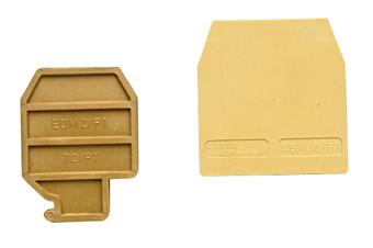 1 Stk Endplatte für Trennklemme MPS 4mm², beige IK130204-A