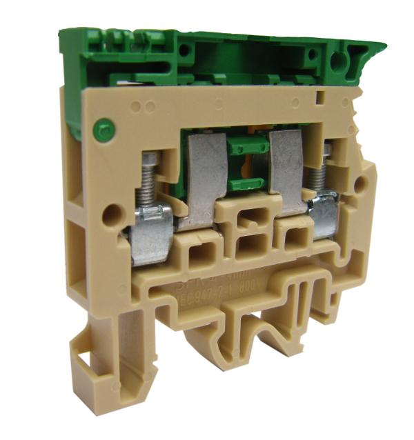 1 Stk Sicherungsklemme 4mm², Type SFR.4 beige IK141004--