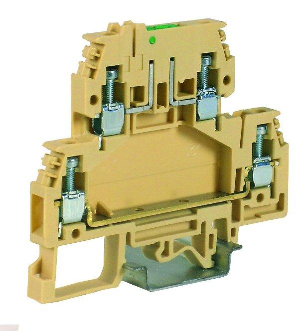 1 Stk Doppelstockklemme 4mm², Type DAS.4, beige IK150004-A