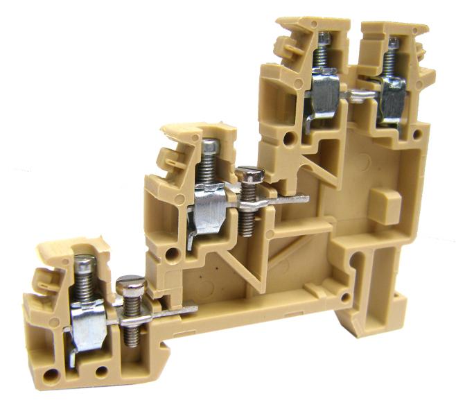 1 Stk Dreistockklemme 2,5mm², Type TLS.2, beige IK180000--