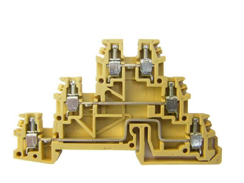1 Stk Dreistockklemme 2,5mm², Type TLD.2, beige IK180001--