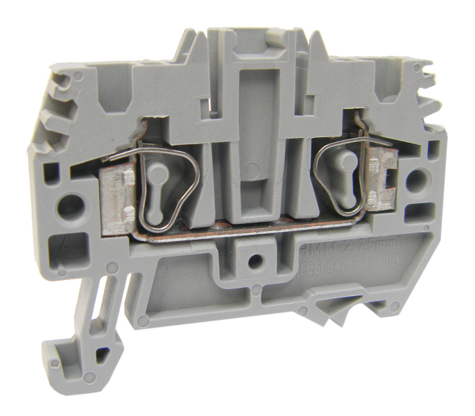 1 Stk Federkraftklemme HMM.2 grau, 2,5mm² IK200002-C