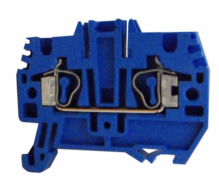 1 Stk Federkraftklemme HMM.4 blau, 4mm² IK201004--