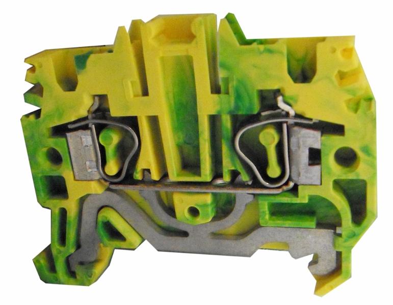 1 Stk Federkraftklemme HTE.2 grün-gelb, 2,5mm² IK222002--