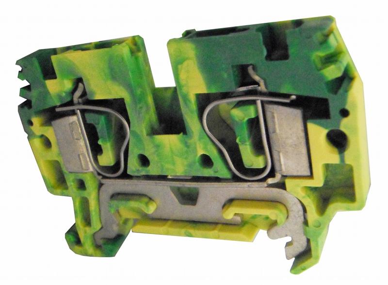1 Stk Federkraftklemme HTE.4 grün-gelb, 4mm² IK222004--