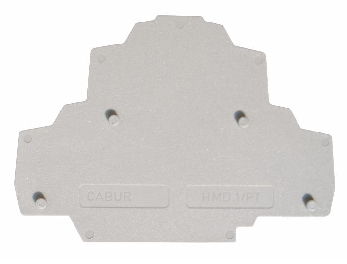 1 Stk Endplatte grau für Federkraft-Doppelstockklemme HMD.2N IK250202-C