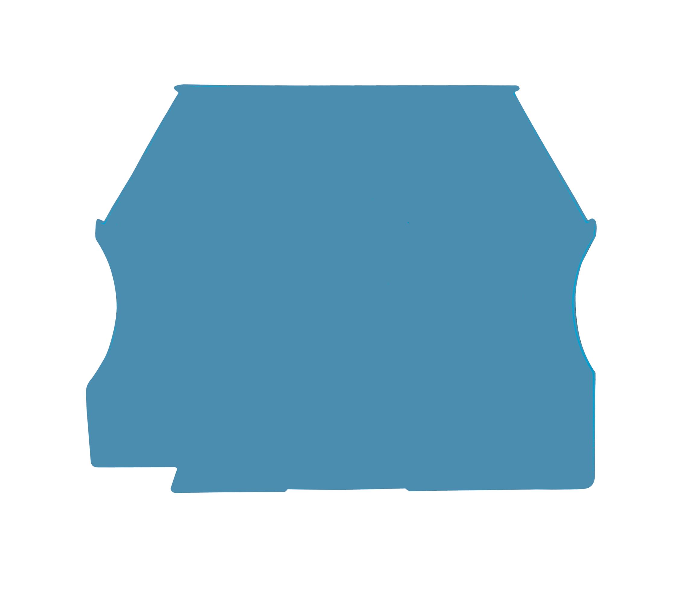 1 Stk Endplatte für Schraubklemmen AVK 2.5, 4, 6 und 10 blau IK601210--